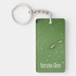 Morning Rain; Promotional Single-Sided Rectangular Acrylic Key Ring