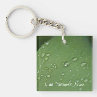 Morning Rain; Promotional Single-Sided Square Acrylic Key Ring