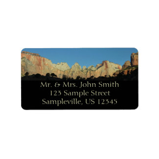 Morning Red Rocks at Zion II Address Label