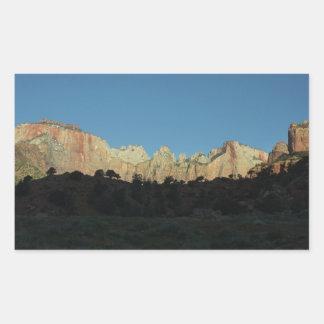 Morning Red Rocks at Zion II Rectangular Sticker