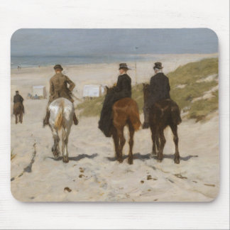 Morning Ride on the Beach - Anton Mauve Mouse Mat
