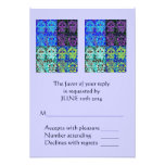 Morning Service OR Evening Affair 'Reply' Card Personalised Invitation
