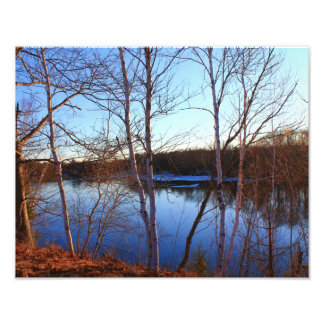 Morning Shots - Bennoch Road Stillwater River Photo Print