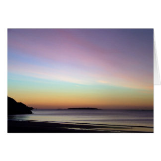 Morning Sky at Singing Beach Card