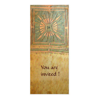 MORNING STAR , antique yellow brown green Card