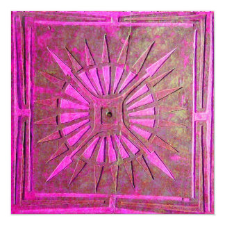 MORNING STAR , bright pink,violet white Card