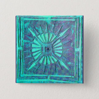 MORNING STAR,Turquase Blue Green ,Teal 15 Cm Square Badge