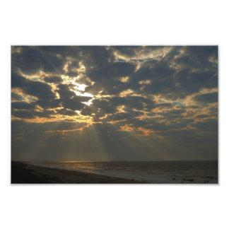 Morning Sun and Ocean - Oak Island, NC Photo Print