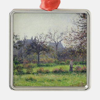 Morning Sun, Autumn, Eragny, 1897 Christmas Ornament