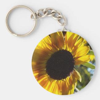 Morning Sunflower Customizable Basic Round Button Key Ring