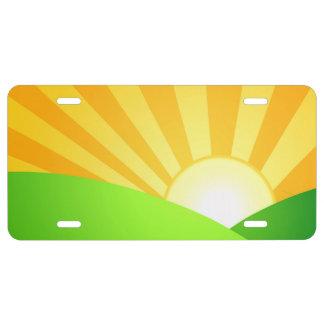 Morning Sunrise License Plate