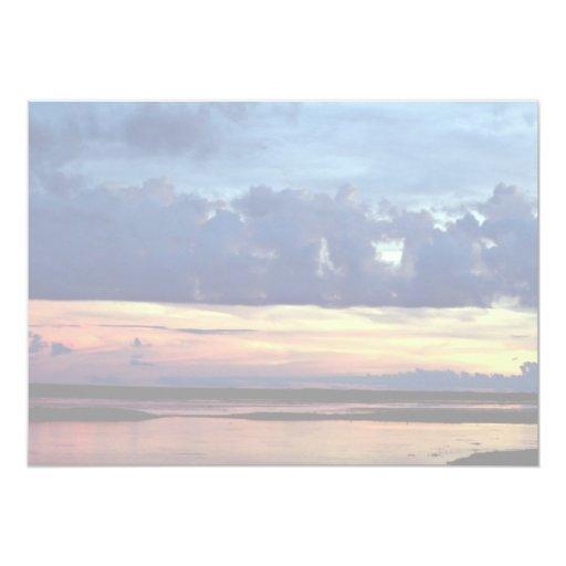 Morning sunrise, plains of Central Venezuela 13 Cm X 18 Cm Invitation Card