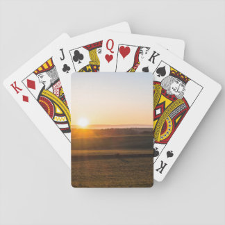 Morning Sunset Playing Cards