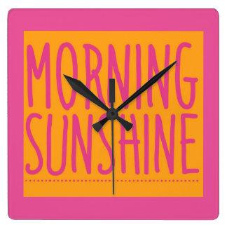 Morning sunshine square wall clock