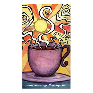 Morning swirl sun Coffee Cup House Business Card
