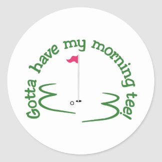 Morning Tee Classic Round Sticker