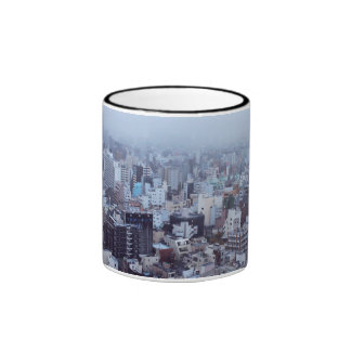 Morning Themed, A Picture Of A City Taken In The Ringer Mug