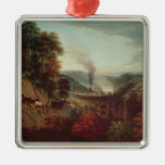 Morning view of Coalbrookdale, 1777 Christmas Ornament