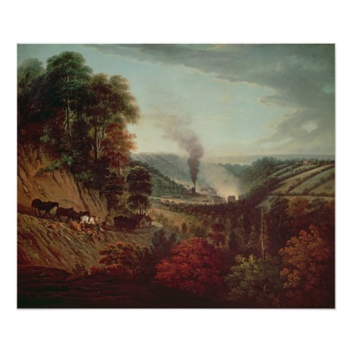 Morning view of Coalbrookdale, 1777 Poster