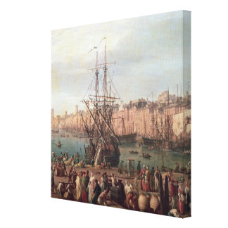 Morning View of the Inner Port of Marseille Canvas Print