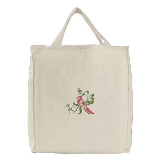Morning Visit Embroidered Tote Bag