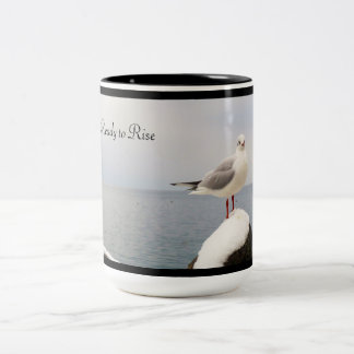 Morning Visitor Two-Tone Coffee Mug