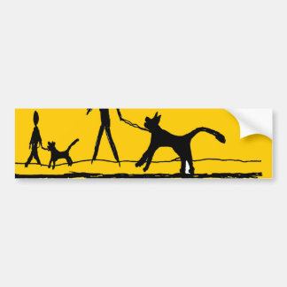 morning walk car bumper sticker