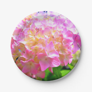 Morning whisper Hydrangeas Paper Plate