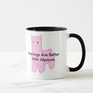 Mornings Are Better Alpaca Mug