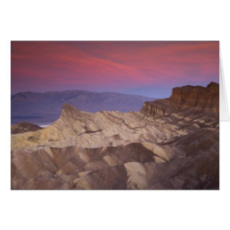 Mornings first light on  Zabriskie Point and 2 Card
