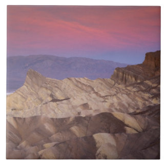 Mornings first light on  Zabriskie Point and 2 Large Square Tile