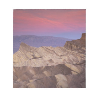 Mornings first light on  Zabriskie Point and 2 Notepad