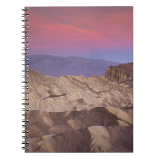 Mornings first light on  Zabriskie Point and 2 Spiral Note Book