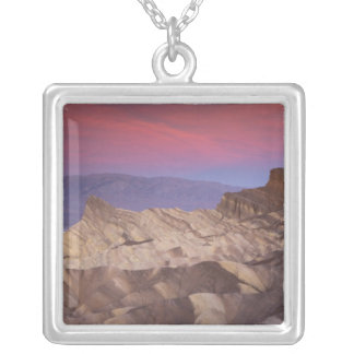 Mornings first light on  Zabriskie Point and 2 Square Pendant Necklace