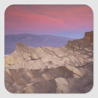 Mornings first light on  Zabriskie Point and 2 Square Sticker