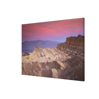 Mornings first light on  Zabriskie Point and 2 Stretched Canvas Prints