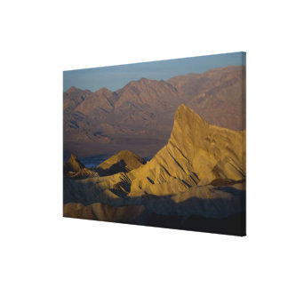 Mornings first light on  Zabriskie Point and 3 Canvas Print