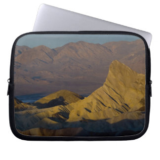 Mornings first light on  Zabriskie Point and 3 Laptop Computer Sleeves