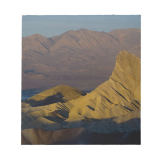 Mornings first light on  Zabriskie Point and 3 Notepad