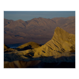Mornings first light on  Zabriskie Point and 3 Poster
