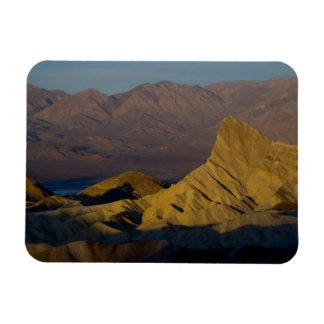 Mornings first light on  Zabriskie Point and 3 Rectangular Photo Magnet
