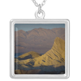 Mornings first light on  Zabriskie Point and 3 Square Pendant Necklace