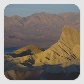 Mornings first light on  Zabriskie Point and 3 Square Sticker