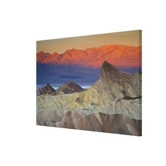 Mornings first light on  Zabriskie Point and Canvas Print