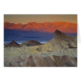 Mornings first light on  Zabriskie Point and Greeting Card