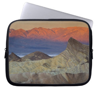 Mornings first light on  Zabriskie Point and Laptop Computer Sleeve