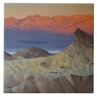 Mornings first light on  Zabriskie Point and Large Square Tile