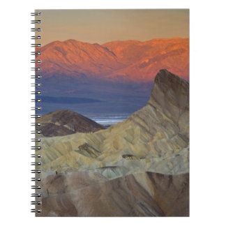 Mornings first light on  Zabriskie Point and Notebook