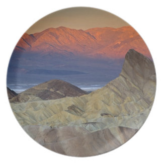 Mornings first light on  Zabriskie Point and Dinner Plates