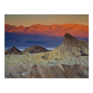 Mornings first light on  Zabriskie Point and Postcard